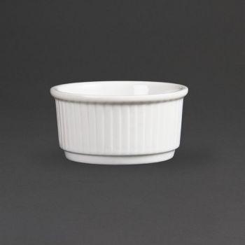 Olympia Whiteware stapelbare ramekins 8.5cm