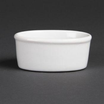 Olympia Whiteware ovale ramekins 10.5cm