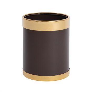 Bolero prullenbak bruin met gouden rand 10.2L