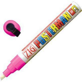 Securit Zig Posterman weerbestendige krijtstift roze 6mm